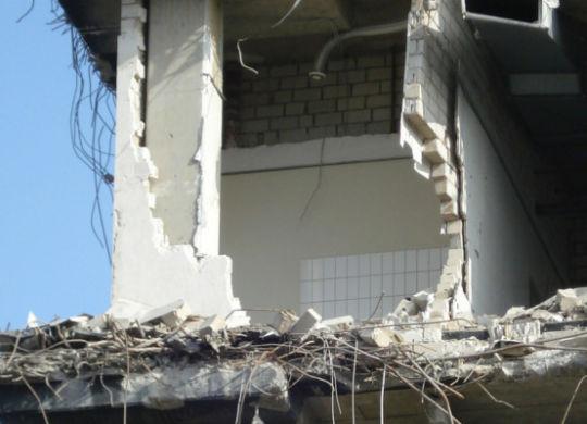zawalenie budynku